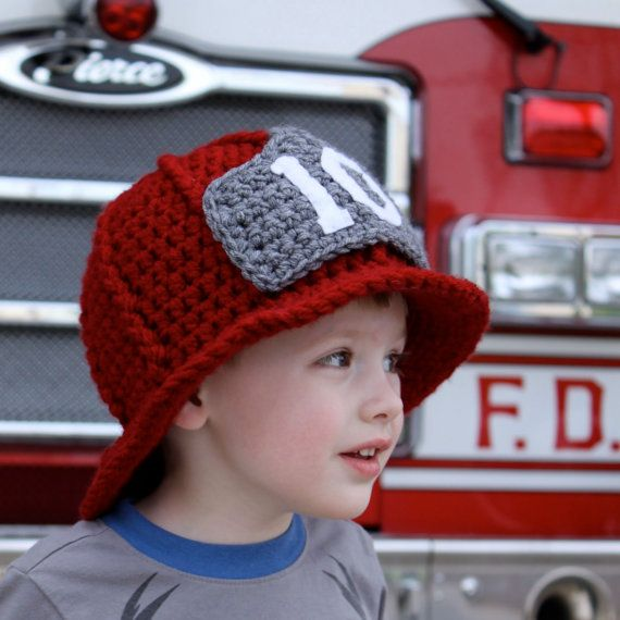 Firefighter Helmet Main ~ LOVE this for the boys! | Crocheting/Yarn ...