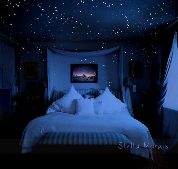 Photo of Glow in the Dark Star Stickers | 3D Glow in Dark Star Ceiling | Super Bright, Realistic Night Sky | Unique Starry Night Home Decor