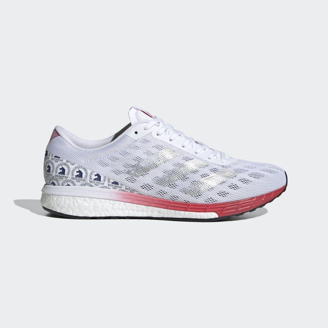 Adizero Boston 9 Shoes White Mens in 2020 | Shoes, Adidas