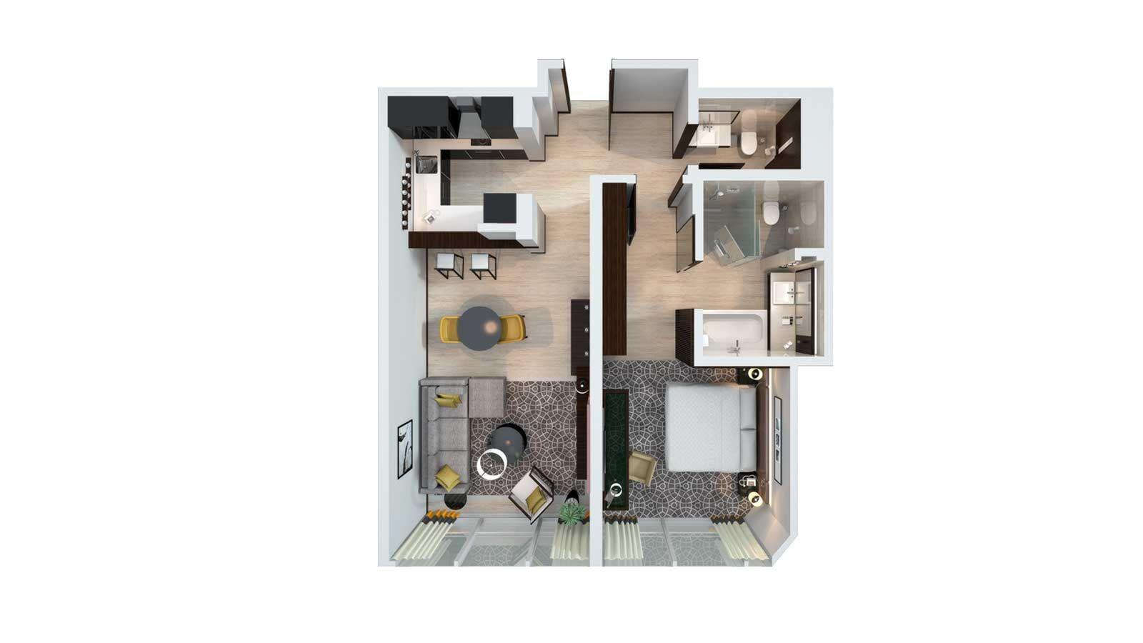 1, 2 and 3 bedroom hotel apartments | sheraton grand hotel, dubai