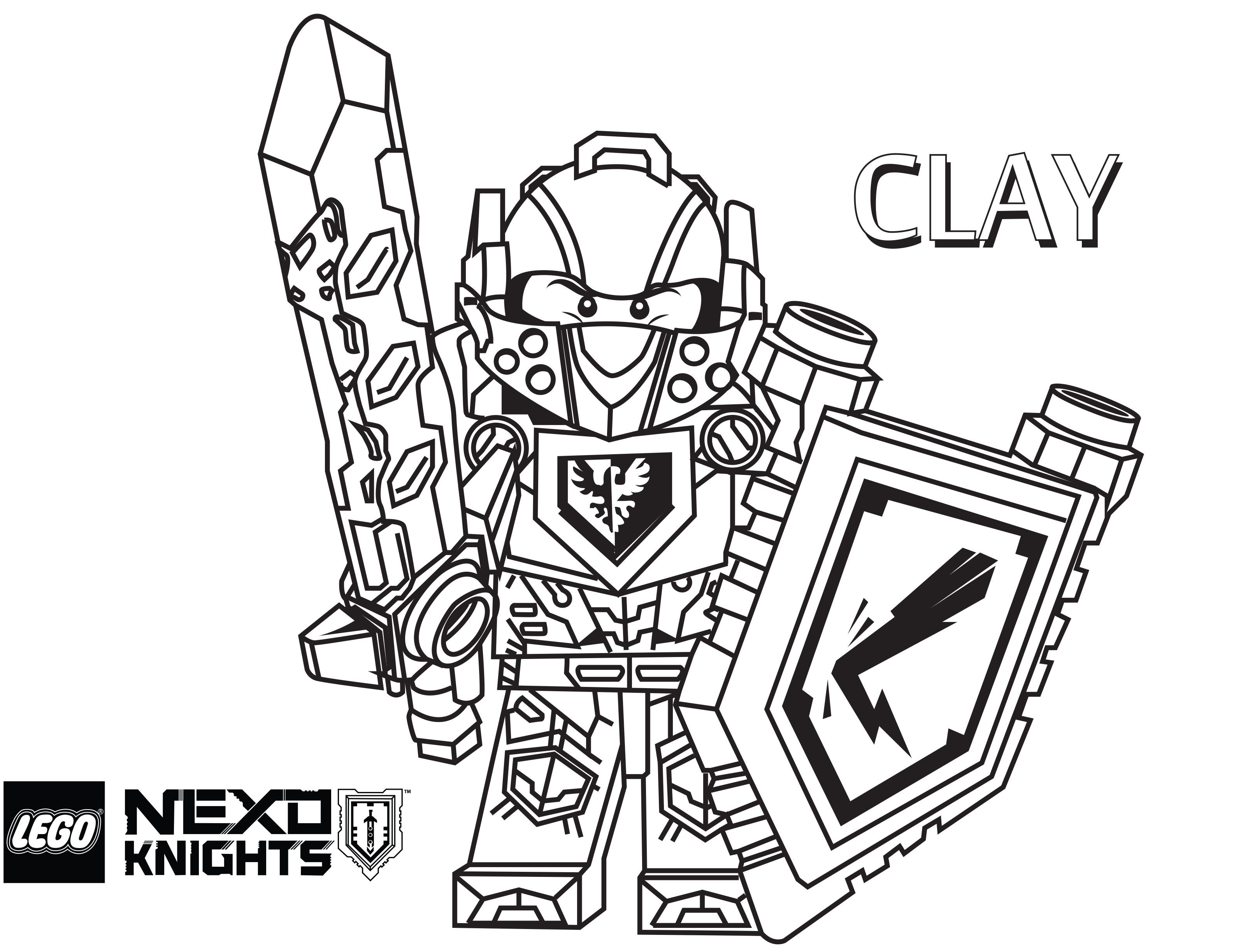 Nexo Knights Ausmalbilder Aaron : Lego Nexo Knights Coloring Pages Free Printable Lego Nexo Knights