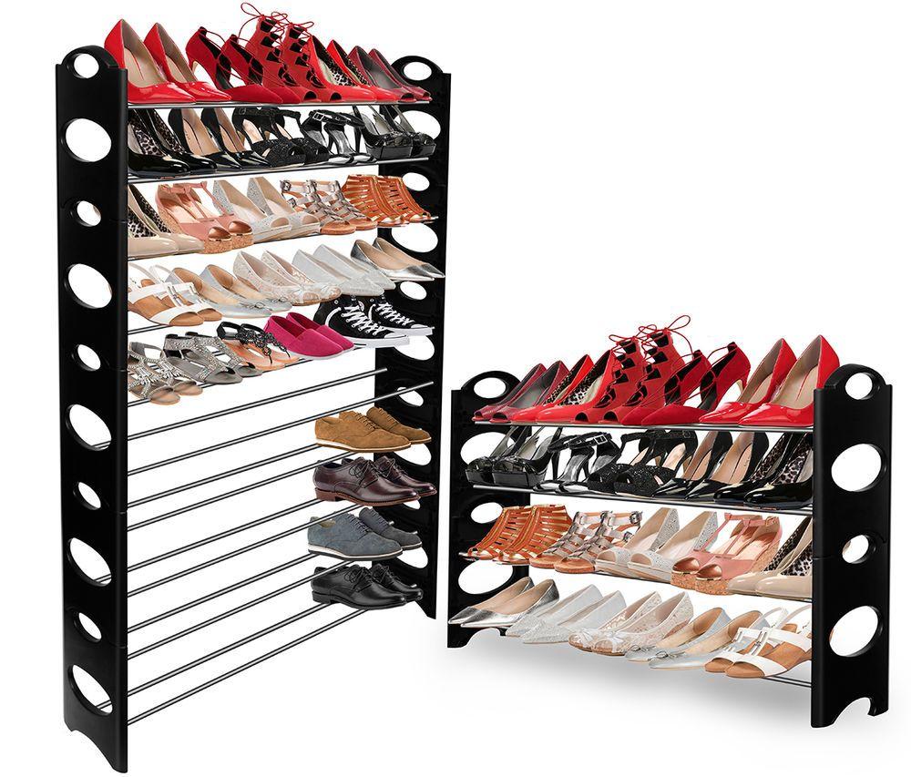 Oxgord Shoe Rack For 50 Pair Wall Bench Shelf Closet Organizer Storage Box Stand Storage Closet Organization Closet Shelf Organization Shoe Rack Closet