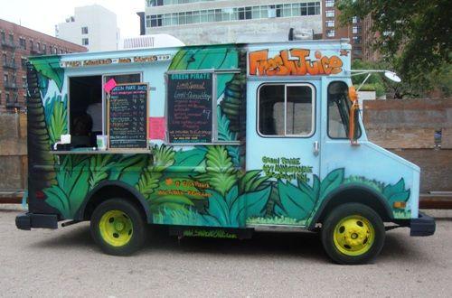 Street Eats Lentil Quinoa Wrap From The Green Pirate Juice Truck Food Truck Design Food Truck Festival Vegan Food Truck
