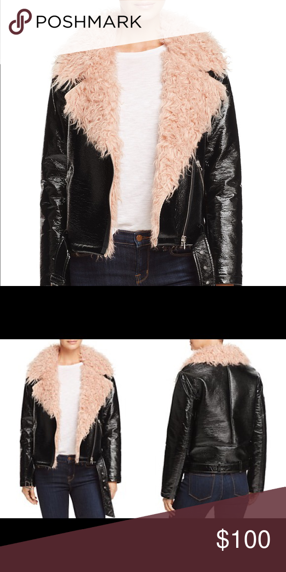 b36e8e6956338 Sunset + Spring Faux Fur-Collar Moto Jacket Sunset + Spring Faux Fur-Collar  Moto Jacket. Size S. Worn once! Bloomingdale's Jackets & Coats