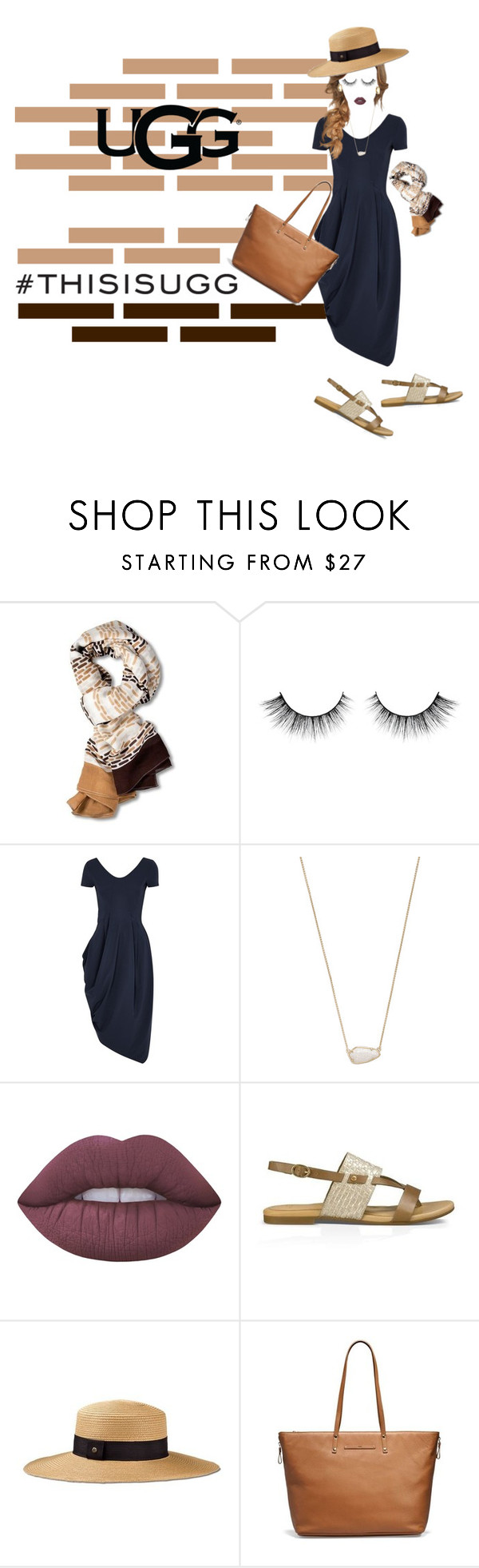 """#thisisugg"" by lala0386 ❤ liked on Polyvore featuring UGG Australia, HIGH, Kendra Scott, Lime Crime and Tiffany & Co."
