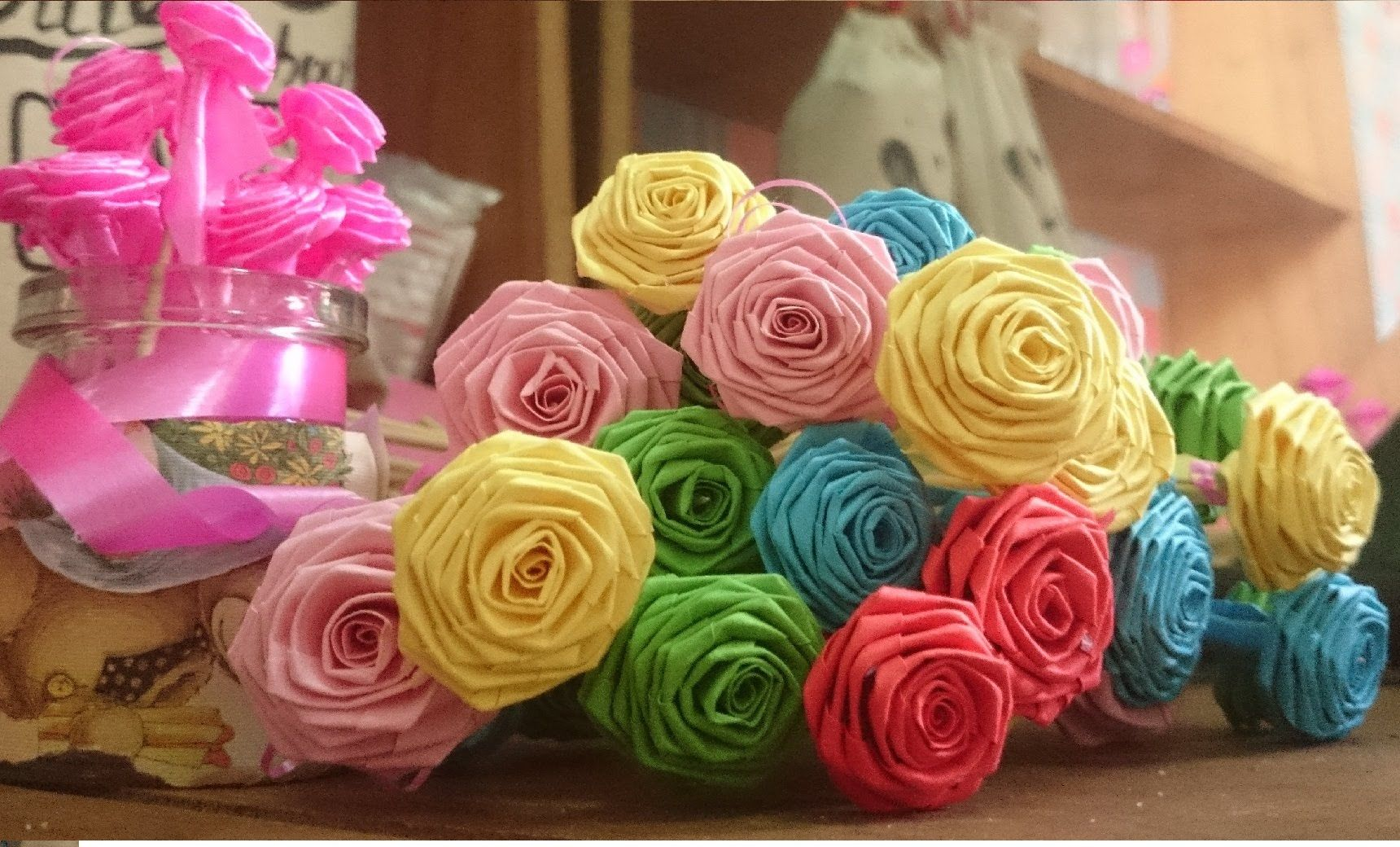 How To Make Handmade Paper Flower Super Easy Way To Make A Real
