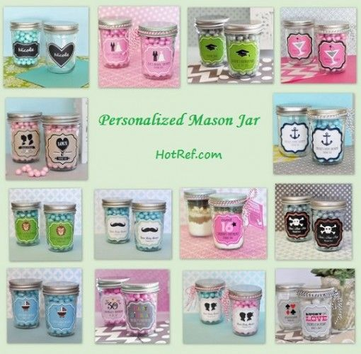 Personalized Mini Mason Jar from HotRef.com | Mason Jar Ideas ...