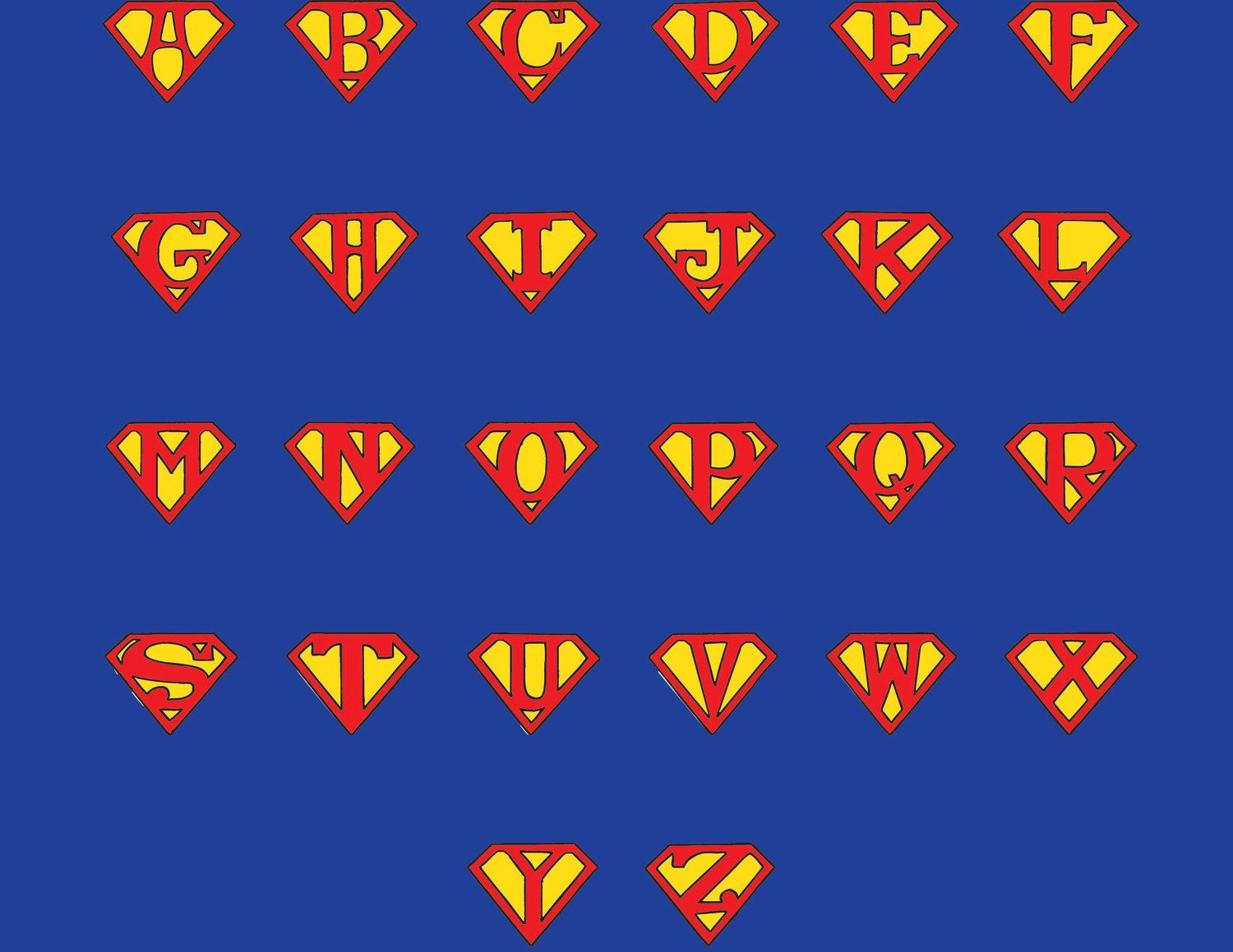 superman letters lets get this party started