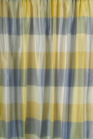 Hepburn Sweet Blue Drapery Panel Yellow Cottage Drapery Panels Red Rooms