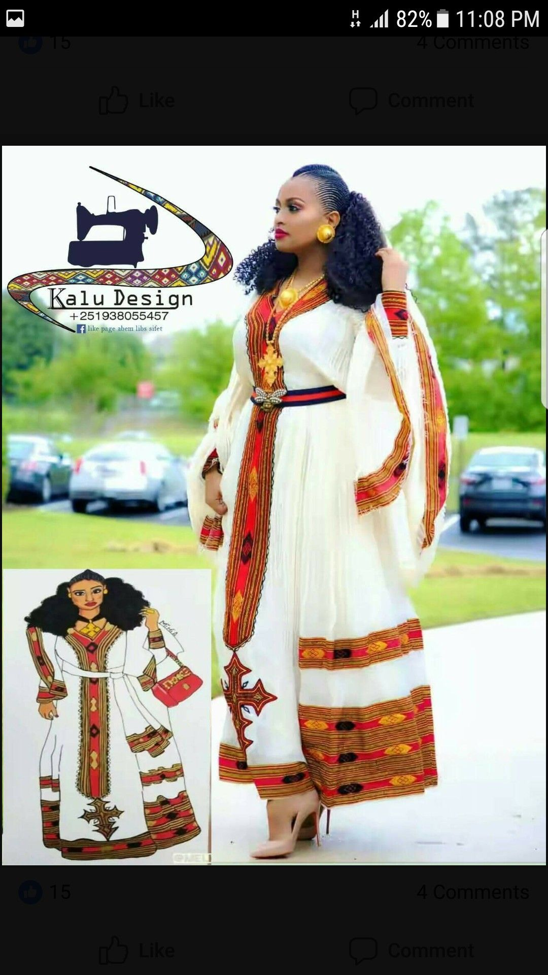 Pin by Betty Kassa on Clothes | Ethiopian dress, Ethiopian