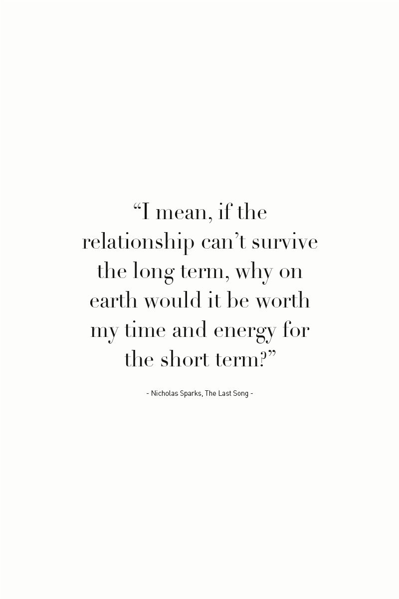 Long term dating quotes
