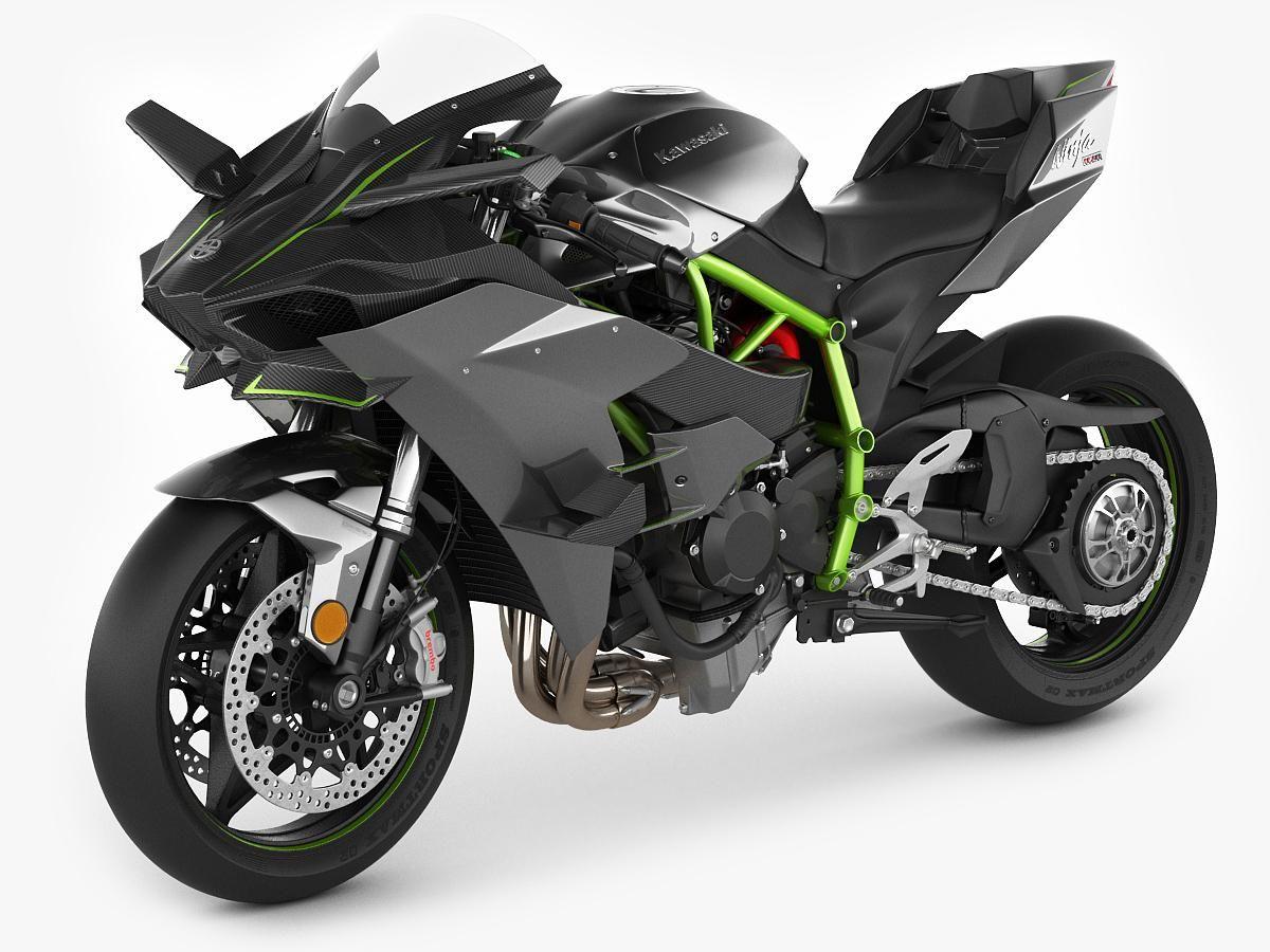 Kawasaki Ninja H2r 3d Model Ad Ninja Kawasaki Model H2r With
