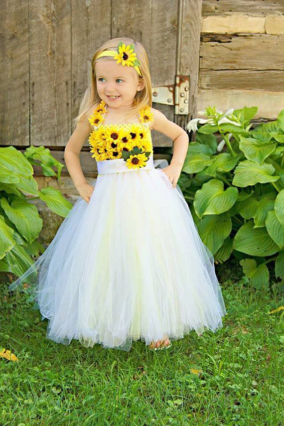 350c612bc9765 Girls Bursting Sunflower Yellow and White Flower Girl Photo shoot ...