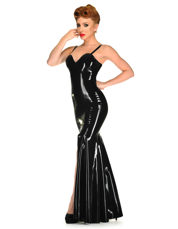 Nigella Evening Gown by Libidex | Latex Fashion | Pinterest ...