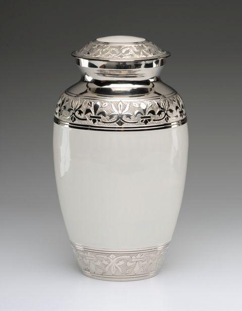Mini Urn Silver /& Gold Pattern With Screw Cap Human//Pet Ashes Cremation Keepsake