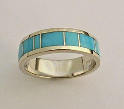 Wedding Engagement Rings Turquoise Wedding Band Turquoise Wedding Rings Mens Wedding Bands Vintage