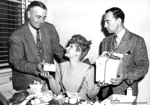Ed Sedgwick and Buster in their MGM office with Lucy - Buster My Love