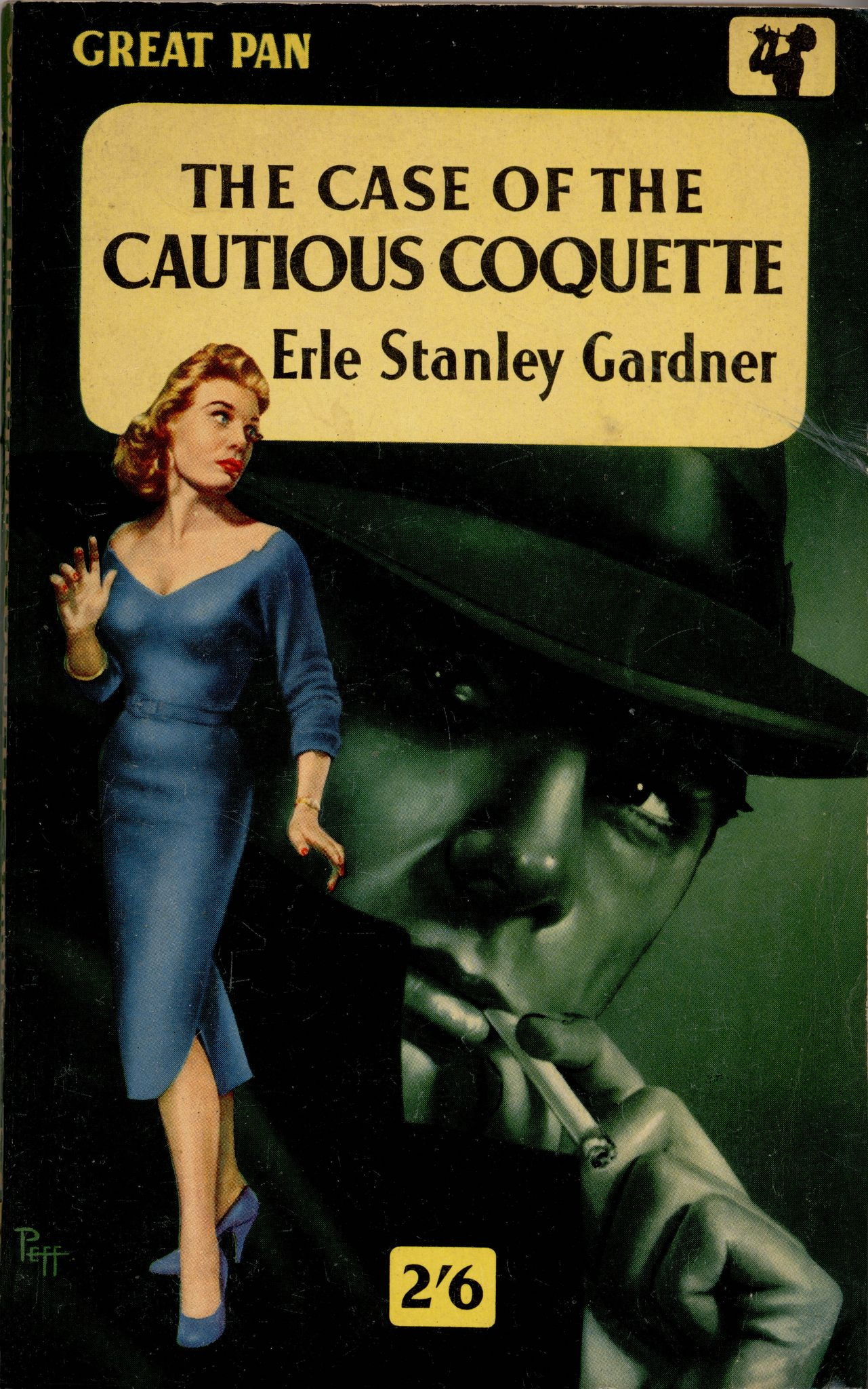 The Case of the Cautious Coquette (Perry Mason, Book 34) | Originally published in 1949 | This is a paperback Great Pan edition.