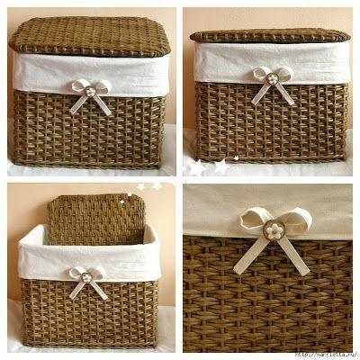 Todo tipo de ideas para decorar cestas y cestos de mimbre cesteria minbre canasto de mimbre Decorar cestas de mimbre