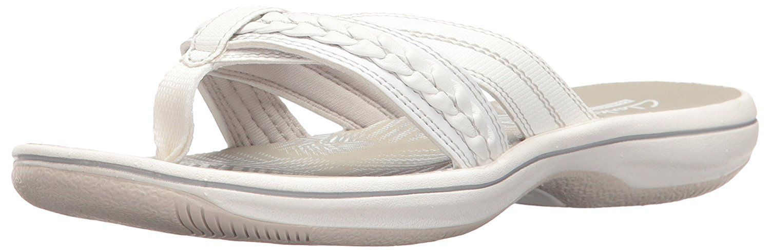 5017d0c6744a CLARKS Women s Brinkley Nora Flip Flop. Clarks bestselling flip-flops are a  hit with women for their carefree style and renowned comfort. made with ...