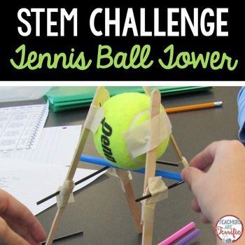 Stem Activity Challenge Tennis Ball Tower Stem Challenges Stem Activities Challenges Stem Activities