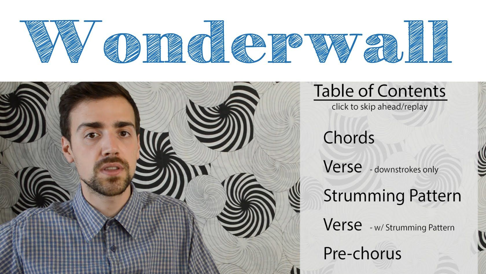 Wonderwall Oasis Easy Guitar Tutorial Simple Chords And