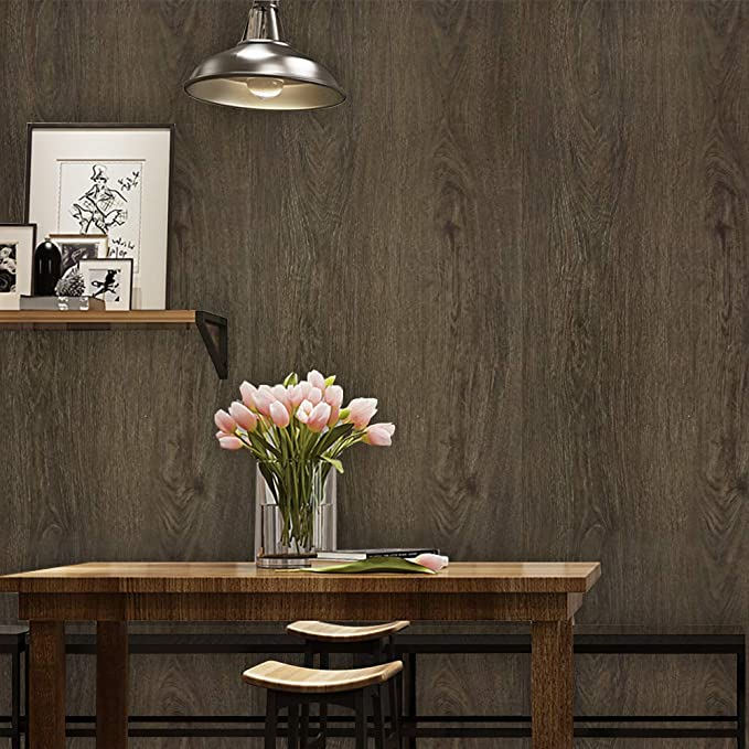 Wood Wallpaper Black Wood Grain Wallpaper 17 7 X 118 Peel And Stick Wood Self Adhesive Wallpaper Wood Grain Wallpaper Removable Wood Wallpaper Wood Wallpaper