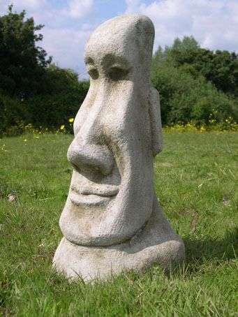 Easter Island Moai Statues Tiki Garden Ornament