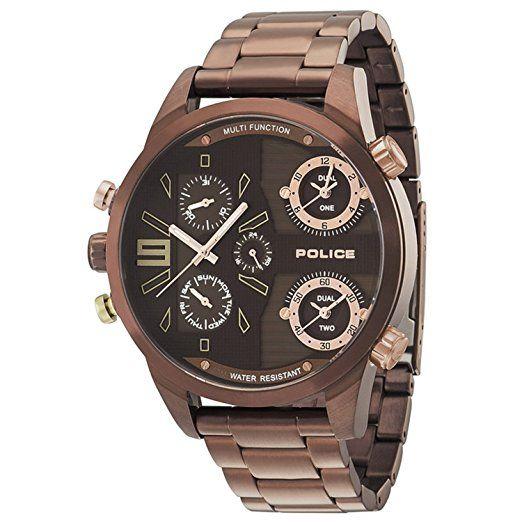 4fb96e27e407 Police P14374JSBN-12M - Reloj de pulsera para hombre