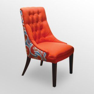 Love The Orange/ Red Fabric With Blue White And Ted. Bar ChairsDining ...