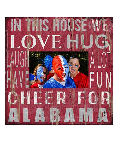 Fan Creations Alabama Crimson Tide In This House Photo Frame | zulily