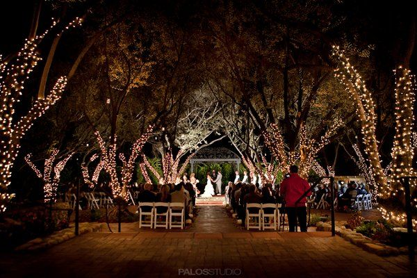Breathtaking Night View Wedding At Padua Hills Theater Claremont Ca