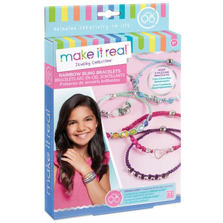 Make It Real Rainbow Bling Bracelets Multicoloured Bracelet