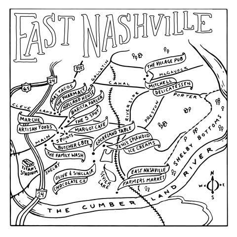 While We Get Ready To Color In A Favorite Page From The New The Nashville Coloring Book From Made South The Map Of E East Nashville Coloring Books Nashville