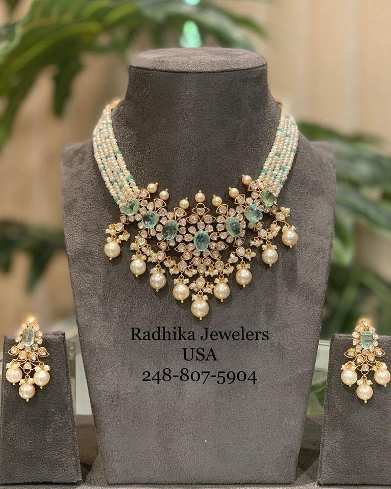Indian bridal jewelry Imitation jewelry Artificial jewelry Beautiful pearl necklace