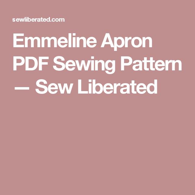 Emmeline Apron PDF Sewing Pattern | Pdf sewing patterns, Apron and ...