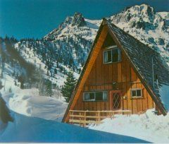The Four Seasons Lodging In June Lake California A Frame House A Frame Cabin Building A Shed