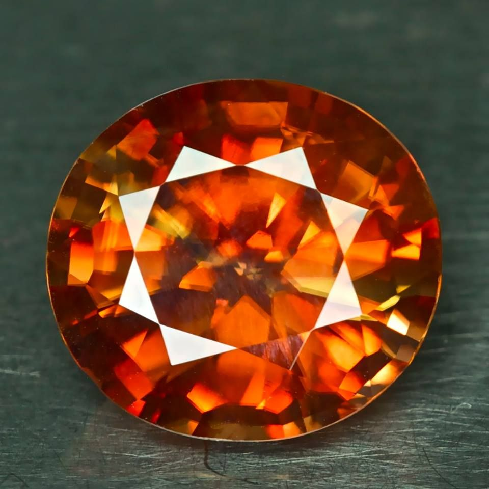 GIA Certified - 15.90ct Imperial Zircon - 15.26 x 14.08 x 8.38 mm - clean, nice cut, CLEARANCE! - $845 shipped