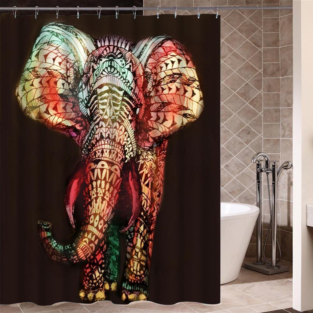 Graffiti Art Modern Design African Shower Curtain For Bathroom