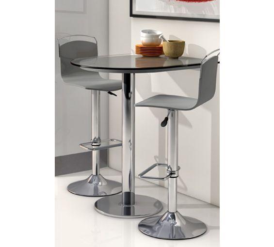 Mesa de cocina alta single fragolina con cristal templado - Mesa alta cocina ...
