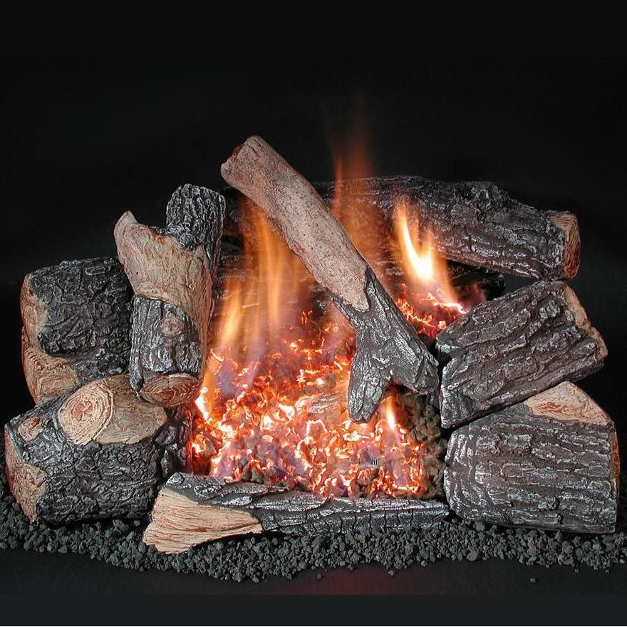 Rasmussen 30 Inch Bark Gas Log Set With Vent Free Natural Gas