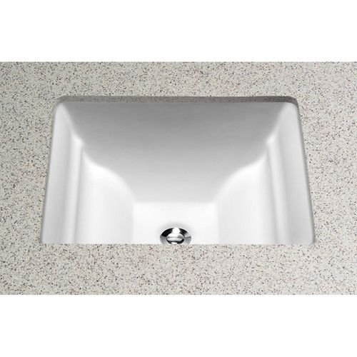 Aimes Ceramic Rectangular Undermount Bathroom Sink With Overflow Bathroom Sink Undermount Bathroom Sink Sink