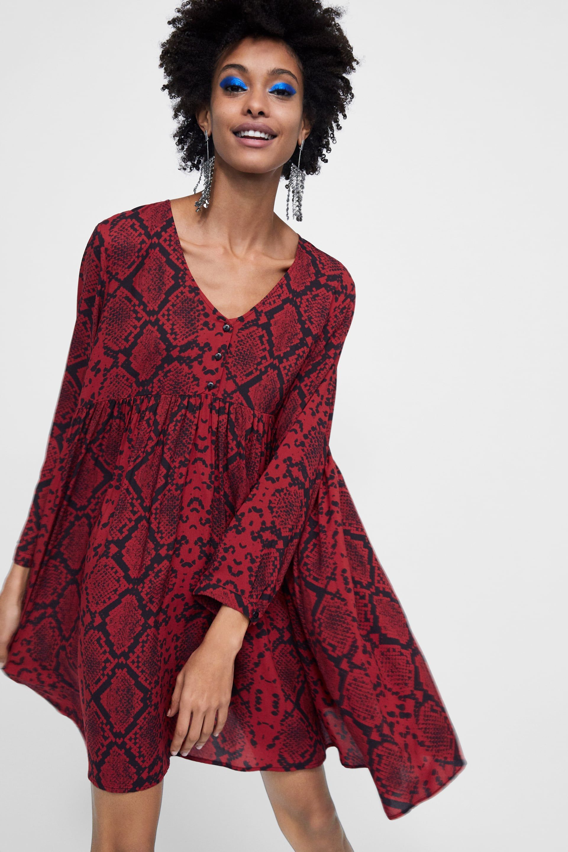 323cd183eb Image 2 of SNAKESKIN PRINT DRESS from Zara