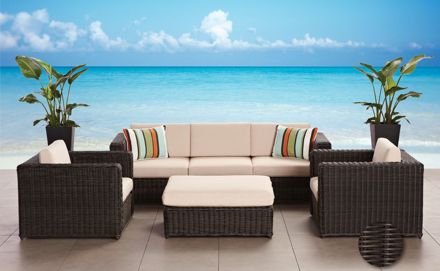 Home Outfitters Gluckstein Bali 4 Pce -weather