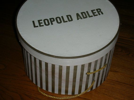 Hat Box Leopold Adler by TheMintGreenTagSale on Etsy, $15.00