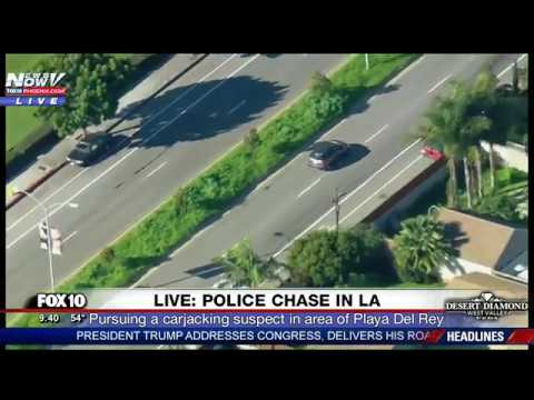 Police Chase Slow Speed Pursuit Suspect Drives In Reverse In Hour Long Lapd Standoff Fnn Youtube Videos Mundo