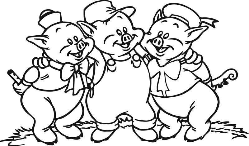 3 Little Pigs Coloring Page Coloring Pages Disney Coloring Pages Three Little Pig