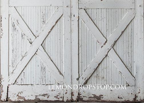 Zoomable Backdrops Barn Door White Barn Door