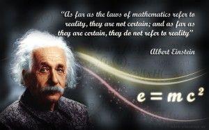 Mathematics and reality, according to Einstein.
