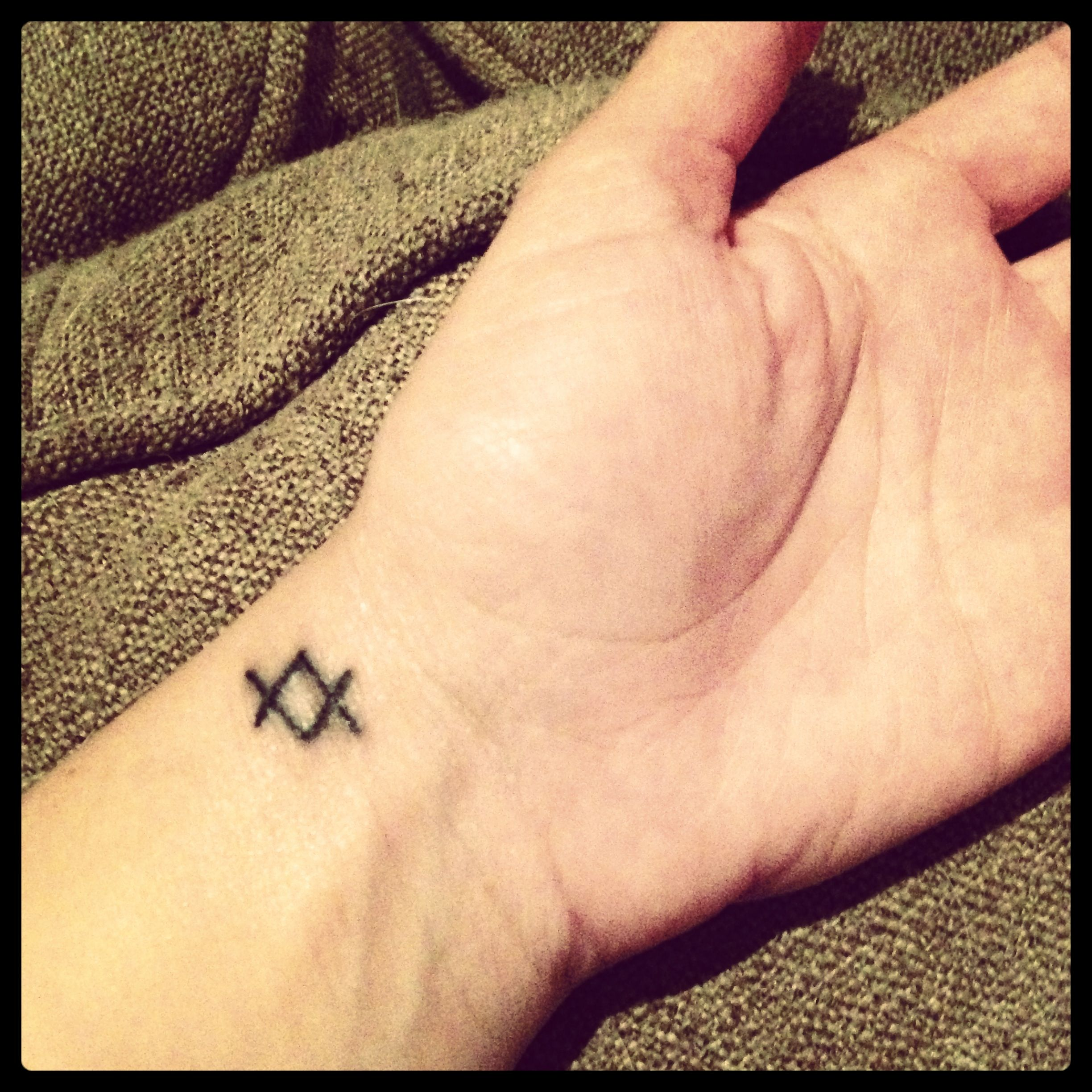Word tattoo cover up ideas simply love itmy new tat viking symbol uinguzu meaning when